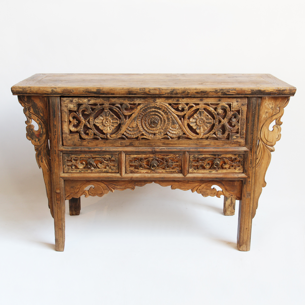 Antique Mongolian Carved Entry Table Furniture Mix Furniture