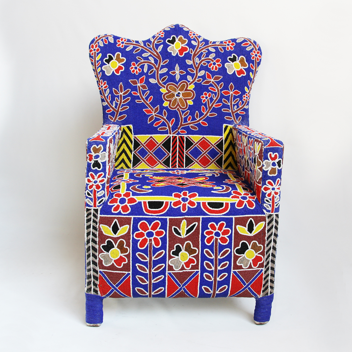 Beaded Yoruba Chief Chair Furniture Design Mix Gallery