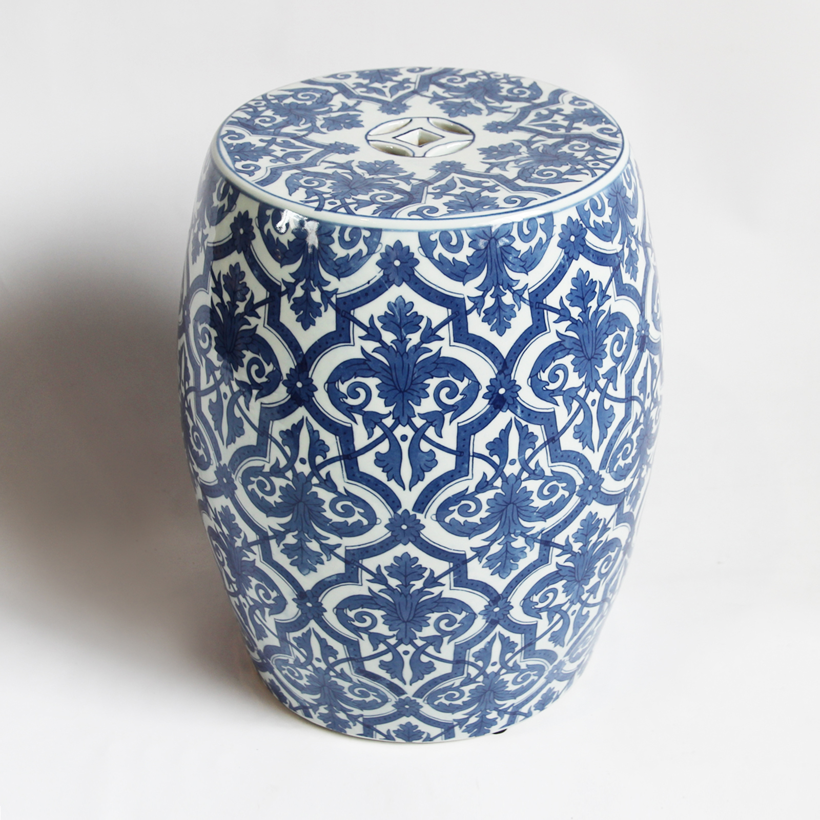 Blue Amp White Ceramic Garden Stool Furniture Design Mix