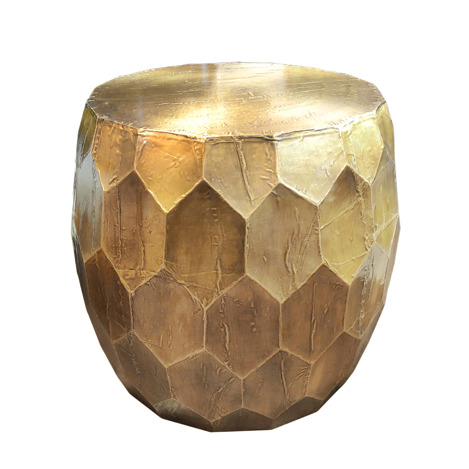 Brass Honeycomb Side Table Furniture