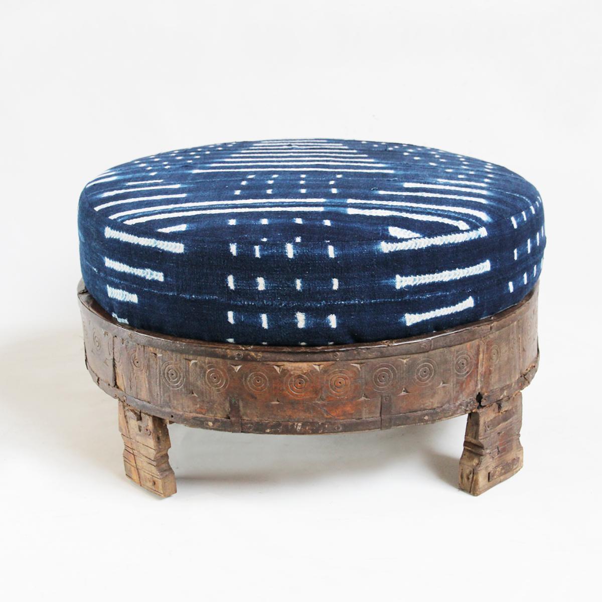 Grinder Stool Mudcloth Ottoman Furniture Design Mix Gallery