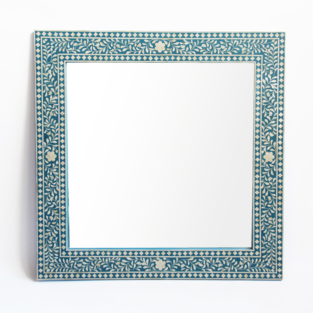 Inlay Blue Mirror Frame Furniture Mix Furniture