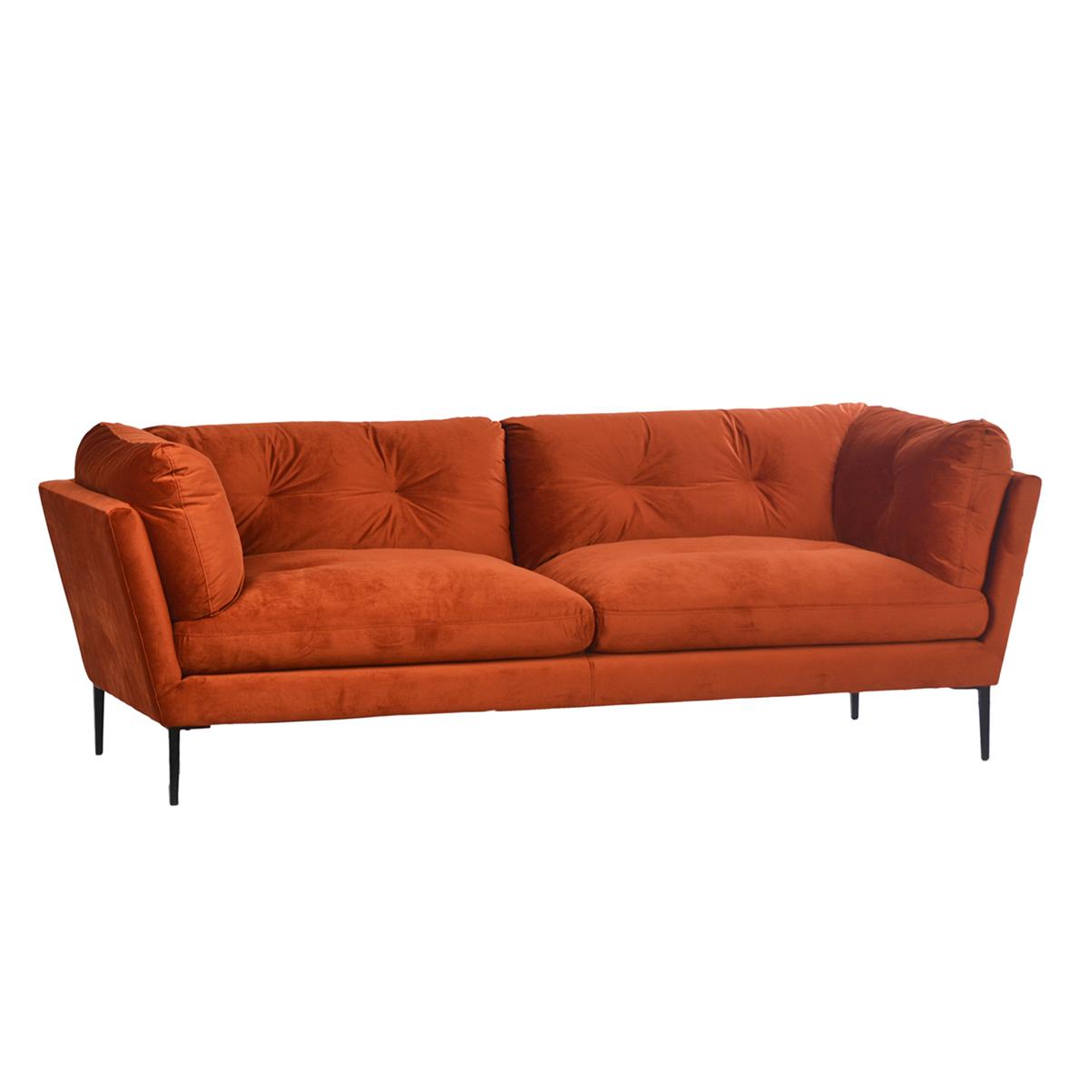 Midcentury Orange Velvet Sofa Furniture Design Mix Gallery