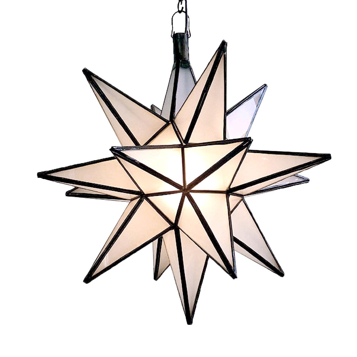 Frosted White Star Lantern Large Furniture Design Mix