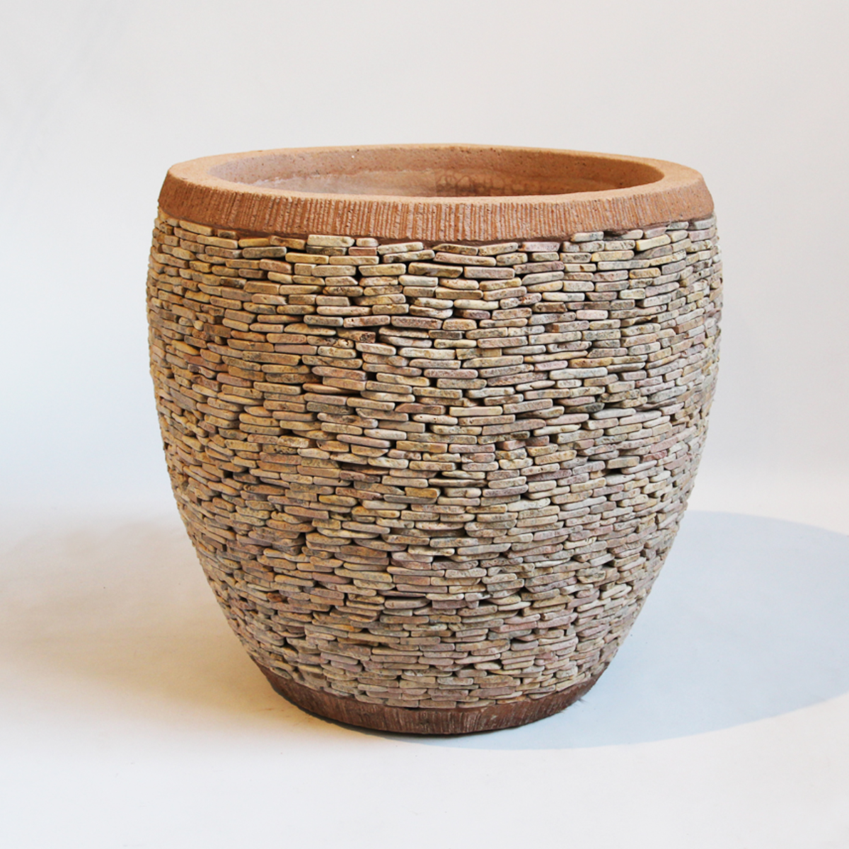 Peach Pebble Stacked Planter Furniture Design Mix Gallery