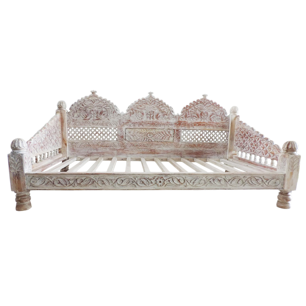 Magnificent Rajasthan White Wash Daybed Furniture Design Mix Gallery Cjindustries Chair Design For Home Cjindustriesco
