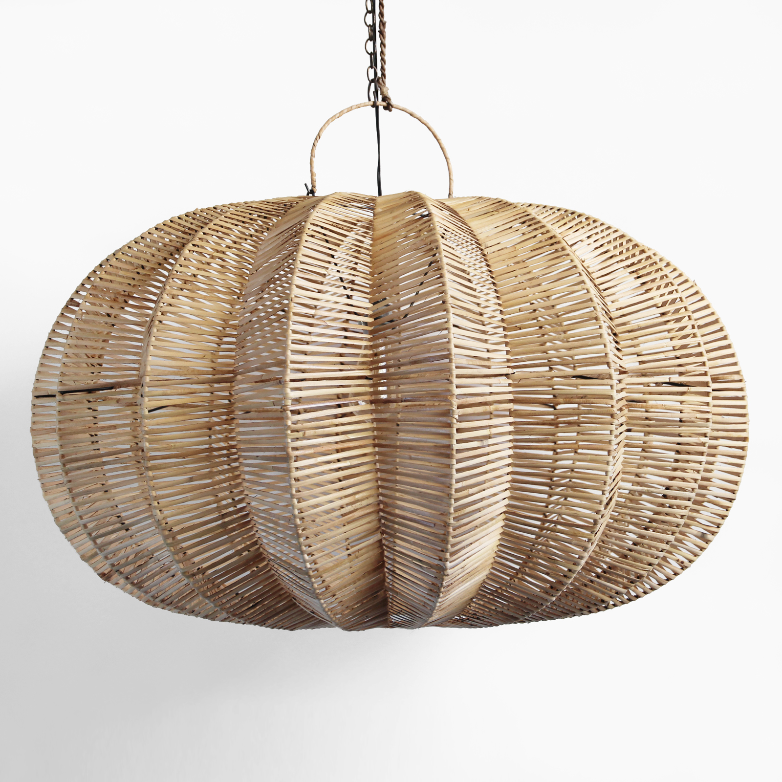 Split Raw Rattan Pumpkin Lantern 40 Furniture Design Mix