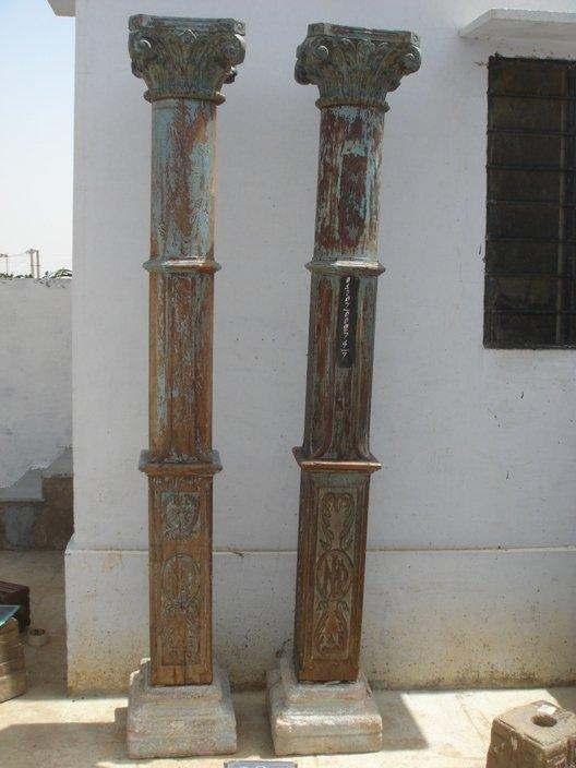 Vintage Carved Wood Pillar Furniture Design Mix Gallery