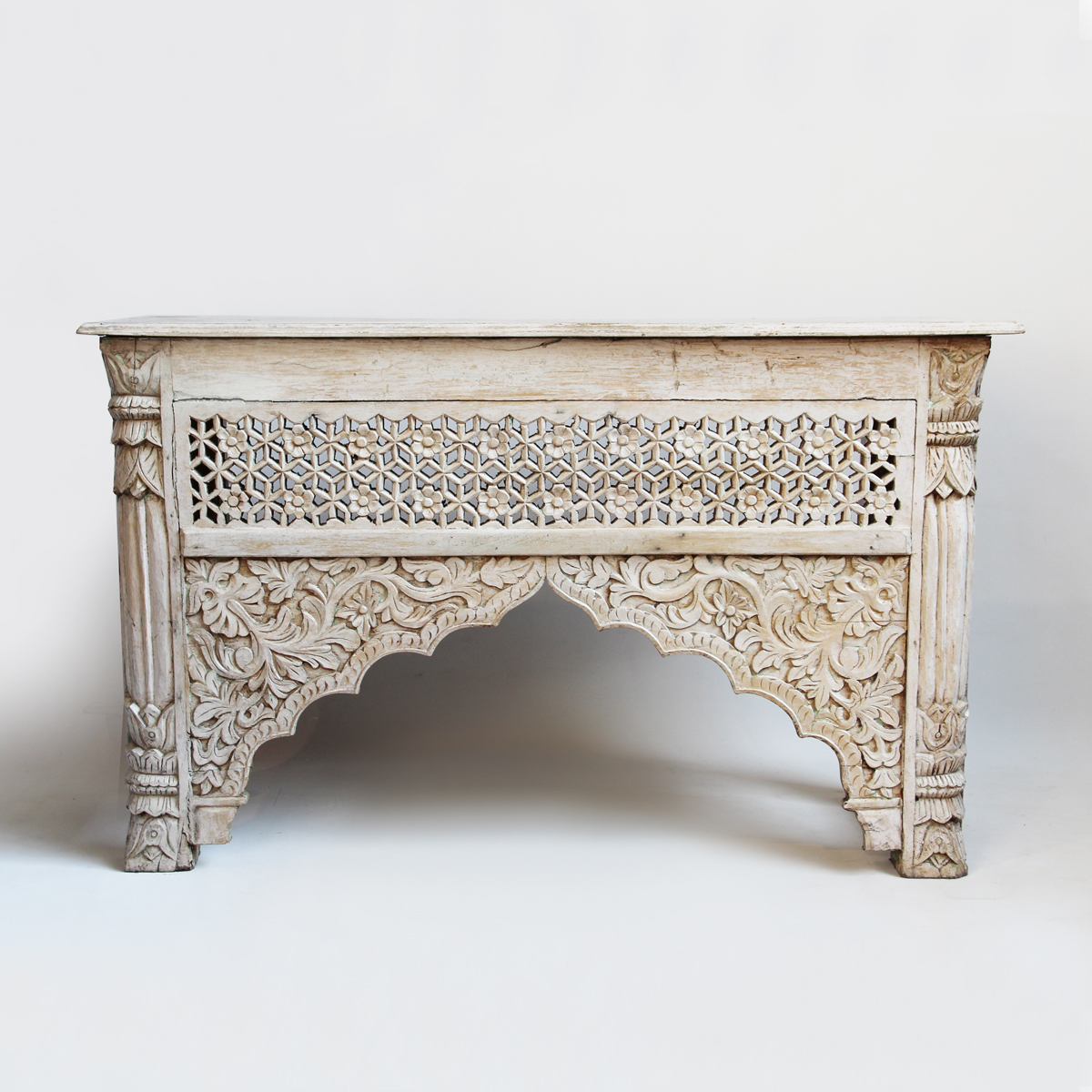 White Architectural Console Table Furniture Design Mix Gallery